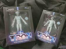 "Disney Tron Flynn & Tron 7"" Action Figure Lot Diamond Select Toys New"