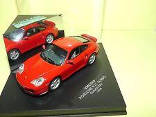 PORSCHE 911 TURBO 996 2000 Gards Red Rouge VITESSE VMC049 1:43 vitrine cassé