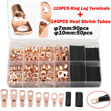 260X Assorted Car Auto Copper Ring Lug Terminal Wire Bare Cable Crimp Connectors