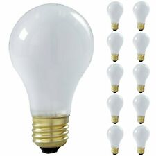 GE A19 Frosted Incandescent Light Bulb 52W 640lm E26 10 Pack