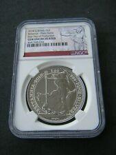 2018 Great Britain Silver Britannia 1 oz £2 Coin - Plain Fields NGC Gem Unc