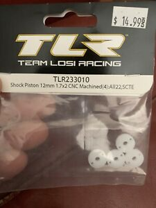 TLR233010 Team Losi Racing 12mm CNC Machined Shock Piston Set (4) (1.7x2)