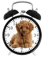 Cute Poodle Puppy Alarm Desk Clock Home or Office Decor F99 Nice Gift