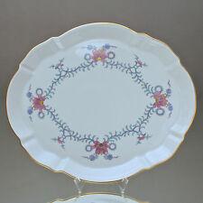 Meissen: Tablett mit Dreiblütengirlande Chinesisch, Platte. Teller Orchidee tray