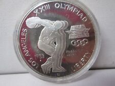 1983 S Olympic XXIII Proof Silver Dollar Commemorative Coin - Capsule