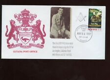 Guyana Masonic Cover 1992 with Nice Cache Tom Mix No 53/100 on back
