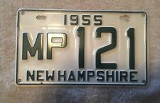 Good Solid 1955 New Hampshire License Plate   SEE MY STORE
