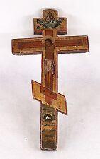 Antique Russian Wooden Crucifix Cross 19 Century