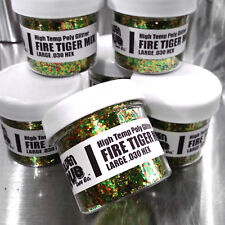 NEW 2 OZ FIRE TIGER MIX Hi-Temp Glitter .030 Hex Fishing Lure Making plastisol