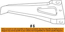 Dodge CHRYSLER OEM Dakota REAR-Bumper Assembly Side Bracket Left 55295675AB
