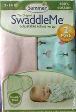 Genuine Summer Infant 2Pack SwaddleMe Swaddle Wrap Trees Small/Medium