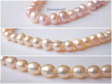 10 Perle rosa naturale coltivate misura 5-6mm 6-7mm 8-9mm acqua dolce di fiume