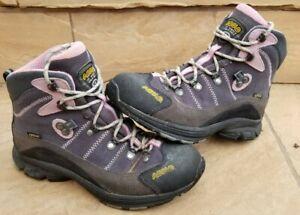 Asolo Womens Horizon 1 GTX Sz 7 Gray & Purple Gore-Tex Waterproof Hiking Boots