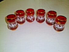6 Vtg Czech Glass Bohemian Ruby Red Enamel Tumblers|Vases HP Greek Goddesses