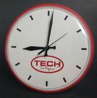 "TECH TIRE REPAIRS Wall Clock Shop Garage Clock School Clock 12.5""   MADE IN USA"