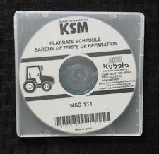 GENUINE KUBOTA M6S-111 TRACTOR FLAT RATE SCHEDULE MANUAL CD