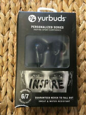 Yurbuds (CE Personalized Series Inspire Sport Earphones Black Size 6/7)New !
