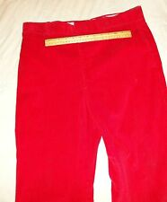 VINTAGE RED CORDUROY MENS PANTS VELVETY SOFT DISCO ERA HIPSTER