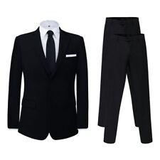 Vidaxl Uomo Abito completo con Pantalone Extra Nero Taglia 46