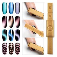 MAGNETIC CAT EYE PLATE PEN STICK for Gel Polish UV 3D Nail Art Magnet UK