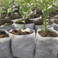 US 100pcs/set Garden Plant Fiber Nursery Pots Seedling Raising Bag Plants Holder
