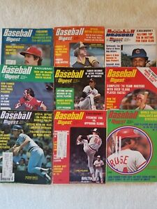 Original Vintage 1976 Baseball Digest Near Complete Year Set Of 9/12 Issues VG+