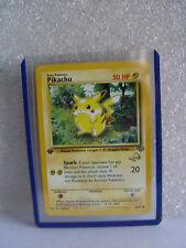 1st Edition Pikachu Pokemon Stamp WOC gold letters Promo Pokemon Card  @