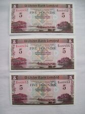 More details for ulster bank:2013 three uncirculated & consecutive £5 banknotes