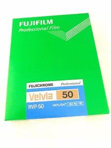 FUJI FUJIFILM VELVIA 50 4x5 20 Sheet Film ISO50 CUTVELVIA50NP4X520  Made inJapan