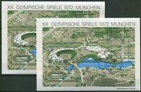 2 x Bund Block Nr. 7 gestempelt 26.8.1972 Eröffnungtag Olympische Spiele München