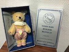 STEIFF 407529 TEDDY BABY BUB 1930 REPLIKA 25 CM. VERPACKUNG & ZERTIFIKAT