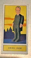1932 Godfrey Phillips Ltd. Personalities of Today #24 DEAN INGE