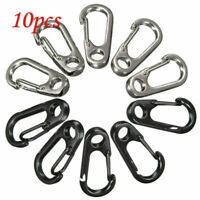 10PCS Mini Buckle Snap Spring Clip Hook Carabiner Backpack Tactical EDC Tool