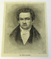 1885 magazine engraving ~ DE WITT CLINTON, Governor of New York