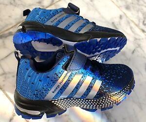 Boys Shoes Size 11 Little Boy Athletic Blue/Silver