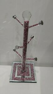 Crushed crystal  Diamond  bling  Mug Tree cup holder stand New design
