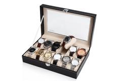 Multi Wrist Watch Organizer Case Gold Ladies Fossil Timepiece NEW
