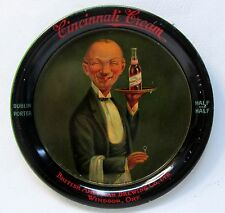 CINCINNATI CREAM British American Brewing Co. Ltd. beer tin litho tip tray