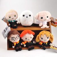 6ST Dobby Harry Potter Hermione  Hedwig Bean  Plush Collection Kid Doll Toy Gift