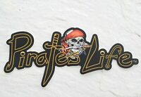 "Medium PIRATE'S LIFE brand Skull Bumper Sticker 7.5"" x 4"" Vinyl Decal"