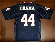 Barack Obama #44 Men's Navy Blue Football Jersey All Stitched