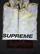 Supreme reflective 3 M Gold Half Zip Pullover grande boîte SS17 Logo