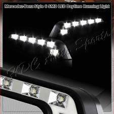 High Power White L Shape Daytime Running Lights Fog Driving Lamps Universal 2