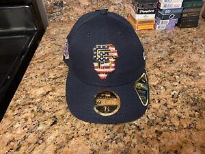 San Francisco Giants July 4th Stars Stripes MLB Baseball New Era Hat Fitted Cap