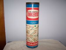 VINTAGE CONTAINER OF THE ORIGINAL TINKERTOY WOOD BUILDING SET - MAJOR No. 136