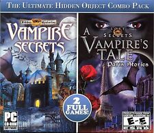 Lost Secrets VAMPIRE'S TALE + VAMPIRE SECRETS Hidden Object PC Game CD-ROM NEW