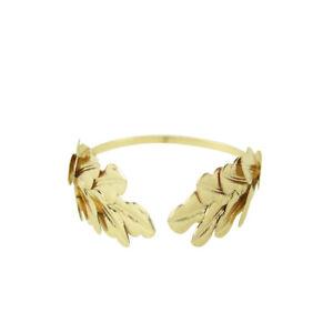 Gold Caesar Leaf Crown King Headwear Metal Roman Headband Toga Costume Accessory