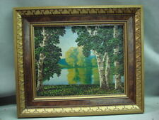 BEAUTIFUL OIL ON CANVAS LANDSCAPE SCENE LISTED ARTIST LEONARD RODOWICZ
