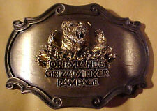 "Opryland Grizzly River Rampage ""Raintree 1980 Belt Buckle <Scarce>"