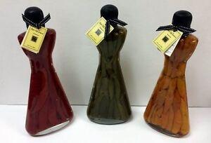 Set of 3 Large Infused Vinegar Chili Peppers in 26 Fl. Oz. Glass Bottles